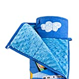 Sivio 3 lbs Weighted Blanket for Kids, Minky Fleece and 100% Cotton Throw Blanket with Beads, Reversible Heavy Blanket for Children Between 19-30 lbs, 36x48 Inch, Blue Airplane