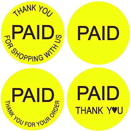 """Paid Stickers USA""""Thank You for Shopping with US"""" 1.5 inch 520 pcs""""Thank You for Your Order""""Round Retail Price Labels"""