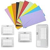 Briefschablone für Briefumschläge, 4 Stück, Lineale zum Schreiben, Nähen, Dankeskarten, Muttertag, Hochzeitseinladungen, DIY Etiketten Basteln