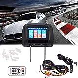 JSCARLIFE 800 * 480 Resolution Screen Car Headrest Monitors (8 Inch MP5)