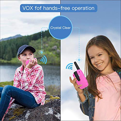 Nestling 2 Pack Walkie Talkies for Kids, Walkie Talkies for Kids 8 Channels 2 Way Radio Toy with Backlit LCD Flashlight…