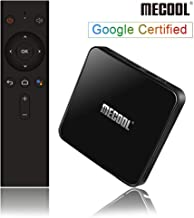 Android 9.0 TV Box, MECOOL KM3 TV BOX with Google Certified, 4GB RAM 64GB ROM Android Box with Amlogic S905X2, 2T2R, Support Voice Remote, Chromecast, Dual-WIfi 2.4G/5G, Bluetooth 4.0(Support Netflix)