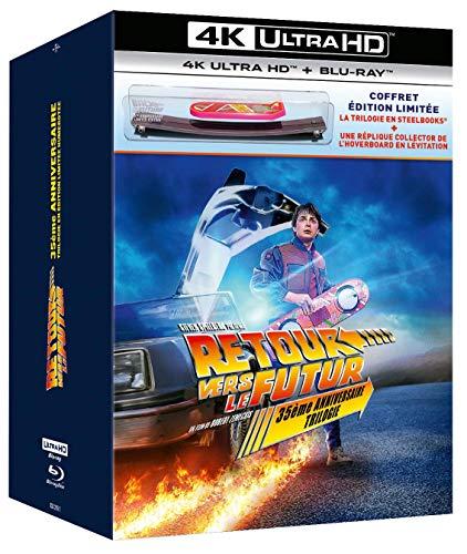 Retour vers Le Futur : Trilogie [35ème Anniversaire-Coffret édition limitée Steelbook 4K Ultra HD + Blu-Ray + Hoverboard en lévitation]