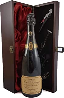 Piper Heidseick Brut Sauvage Vintage Champagne 1982 in a silk lined wooden box with four wine accessories, 1 x 750ml