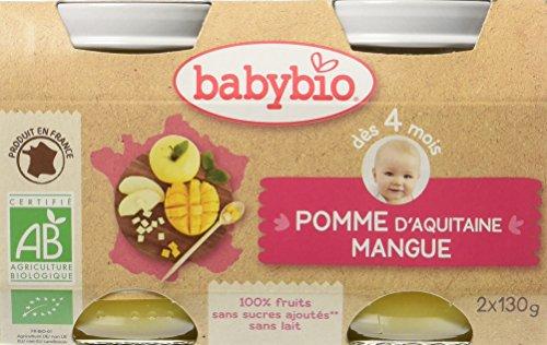 Babybio Pots Pomme d'Aquitaine Mangue 260 g - Lot de 6