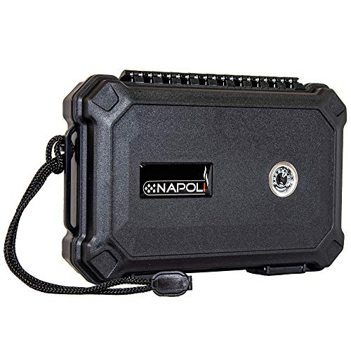 Napoli Travel Case - 5 Count - Waterproof, Rugged, Crushproof, Built in Hygrometer