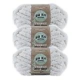 (3 Pack) Lion Brand Yarn 951-098AM AR Workshop Chunky Knit Yarn, Husk