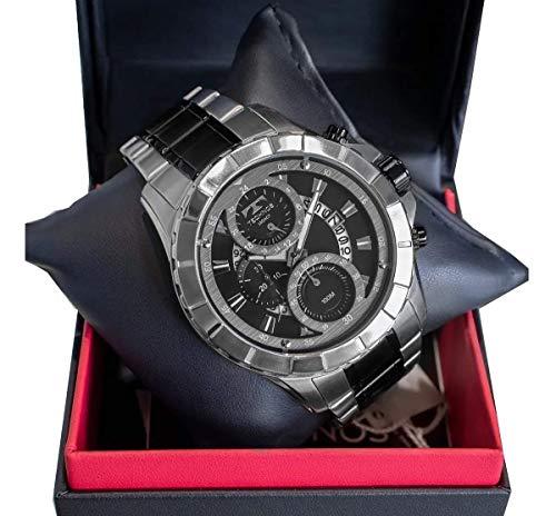 Relógio Technos Masculino Ref: Js15fm/5p Big Case Cronógrafo Prateado