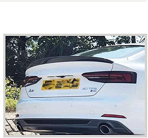 Zaaqio Adatto per Audi A5 S5 Quattro Sportback 4 Porte 2019 2017 2018 in Fibra di Carbonio Spoiler Posteriore per Auto Spoiler alettone, Non Adatto per 2 Porte