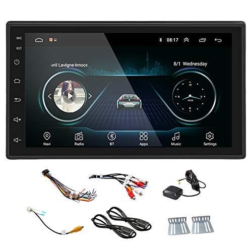 Youmine Nueva Negro 2DIN Androide MP5 Car Multimedia-Player Radio GPS Navi WiFi Radio 2 DIN 7 Pulgadas de Pantalla Prensa EstéReo FM Car Audio (Mapa de Europa)