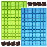 YuCool Silikon-Form mit 126-Mulden, quadratisch, mit 1 Edelstahl-Tablett für selbstgemachte...