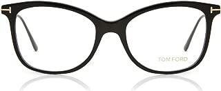 Eyeglasses Tom Ford FT 5510 001 Shiny Black Front, Rose Gold Temples