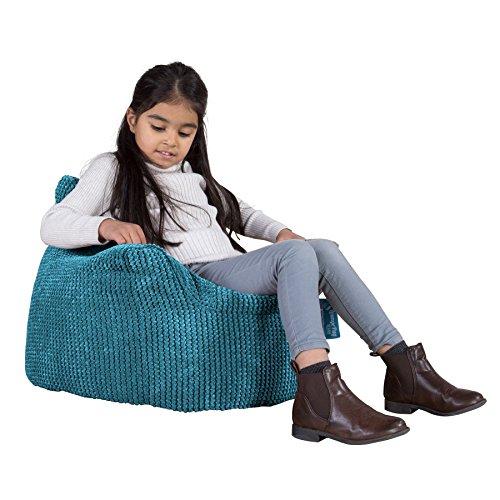 Lounge Pug®, Kindersessel Sitzsack, Sitzsack Kinder, Pom-Pom Türkis