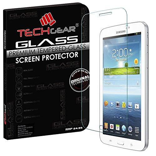 TECHGEAR Panzerglas für Galaxy Tab 3 7,0 Zoll (SM-T210 / P3200 Series) - Panzerglasfolie Anti-Kratzer Schutzabdeckung kompatibel mit Samsung Galaxy Tab 3 7,0 Zoll
