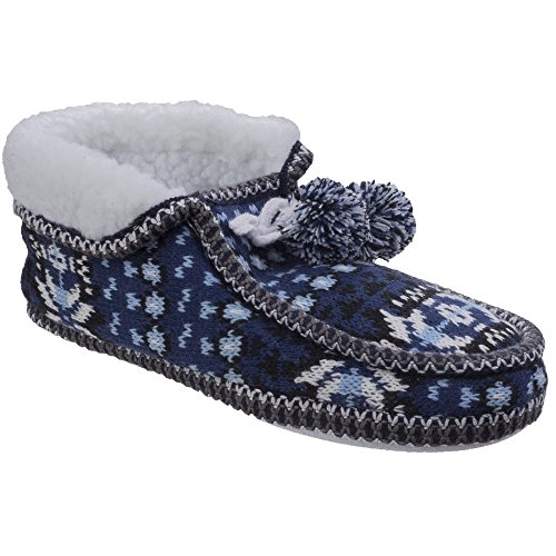 Divaz - Zapatillas de Estar por casa de Punto Modelo Lapland para Mujer (S) (Azul)