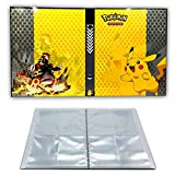 Card Holder Compatible with Pokemon Cards, Card Album, Binder Cards Album Book Best Protection Trading Cards Put up to 160 Cards, Pikachu Cover