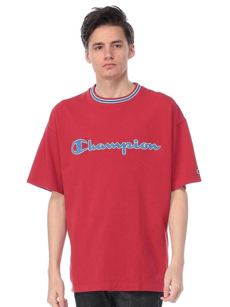 仕事信仰適用済み(チャンピオン) Champion アクションリブ ロゴ刺繍 クルーネック 半袖 Tシャツ [C3P309]