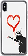 iPhone 7 Plus/iPhone 8 Plus Case Clear Anti-Scratch Banksy - Love Rat, Classic Cover Phone Cases for iPhone 7 Plus, iPhone 8 Plus