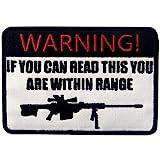 Táctico Si puedes leer esto, estás dentro del alcance Broche Bordado de Gancho y Parche de Gancho y bucle de cierre