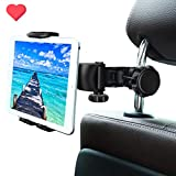 WBSZDS Tablet Mount Holder Phone for Car Headrest Mount Apple iPad Pro/Air/Mini, Tablets, Nintendo Switch, iPhone, Smartphones 4.5' to 11' Wide with Dual Adjustable Positions and 360° Rotation