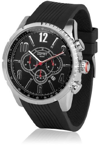 Esprit ES104221001 - Reloj de Pulsera Hombre, Caucho, Color Negro