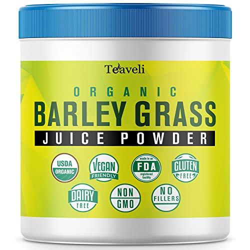 Premium Organic Barley Grass Juice Powder– 8 Ounces (226g) of Delicious Barley Grass Juice Extract, Green Superfood with Chlorophyll & Enzymes– Barley Grass Powder to Support A Healthy Immune System