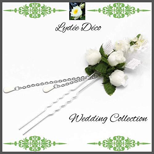 Peluquería accesorios horquillas perlas de tejido de perlas blancas Japón perlas flores plumas regalos personalizados ceremonia de boda invitados dama de honor testigo de la pareja
