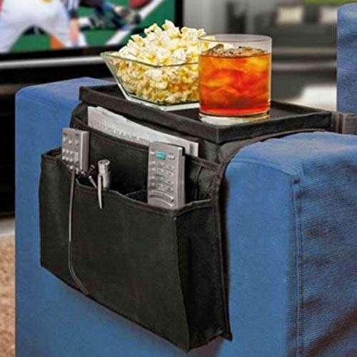 epoxios 6 bolsillos para sofá, pasamanos y reposabrazos, organizador de mesa, bandeja para sofá, bolsillos remotos para revistas