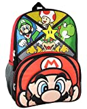 Super Mario Boy's Front Tap Activated LED Light Up 16' Backpack