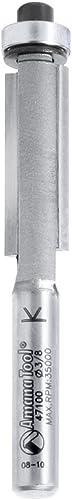 "high quality Amana Tool - 47100 discount Carbide Tipped Flush Trim 3/8 Dia x 1"" high quality 4 Shank outlet sale"