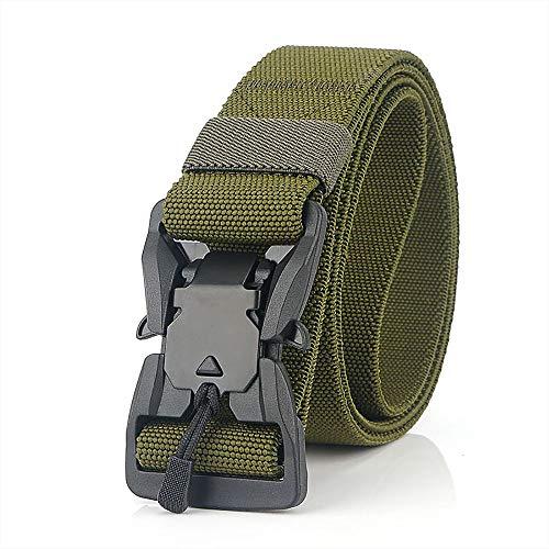 S.Lux Correas de la hebilla magnética elástico, Nylon cintura de la lona militar Army Green