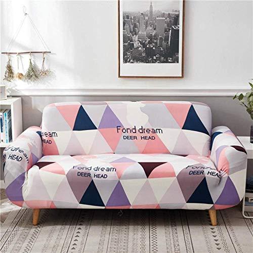 HFTYCC Funda para sofá, Tela elástica de Alta Elasticidad para sofá de 1 a 4 plazas Funda para Silla Funda para sofá Poliéster Spandex Protector para Muebles -2 plazas_Pink Plaid