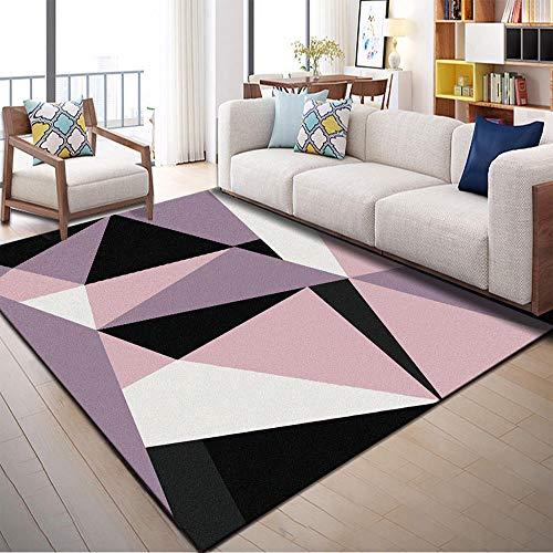 Tappeto Salotto Moderno Geometria moderna a triangolo nera Modello Stampato 3D Tappeti Decorazioni Per Interni Tappetini Casa e Cucina Velluto di Cristallo 7mm Morbido e Confortevole 80*120