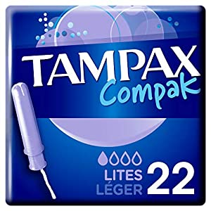 Tampax Compak Light Tampons with Plastic Applicator Pack of 22 Parent