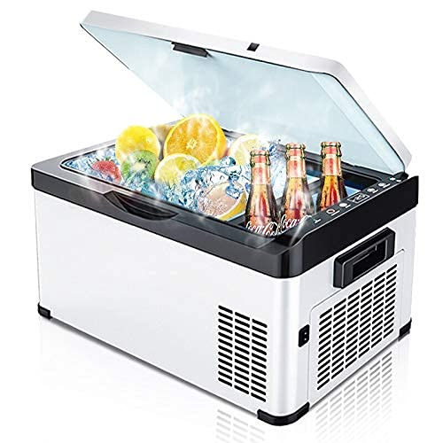 FHKBK Refrigerador de Coche 20/26 / 30L AC / DC12V24V Camping Picnic al Aire Libre Portátil Coche Auto RV Refrigerador de Viaje Mini Nevera Congelador Profundo Enfriador Caja de Hielo (N