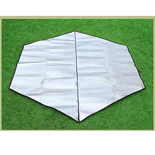 Z&HX sportsFeuilles en Aluminium hexagonales ¨¤ l'ext¨¦Rieur en Aluminium Multi-Personnes, White, 240 * 240 * 0.3