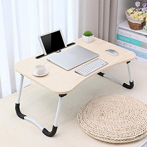 Folding Table, Portable Laptop Desk Pc Sofa Stand Air Space Desk Laptop Stand Folding Table Laptop Tray Breakfast Tray Lap Table Lap Tray Foldable Table Laptop Bed Tray, 60x 40 x 28 cm