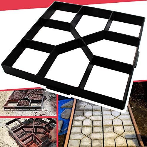 Anothera 15.7'x15.7'x1.57' Walk Maker Reusable Concrete Path Maker Molds Stepping Stone Paver Lawn Patio Yard Garden DIY Walkway Pavement Paving Moulds (Square)…