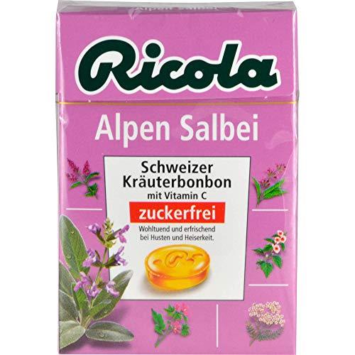 Ricola Alpen Salbei Bonbons ohne Zucker Klickbox, 50 g