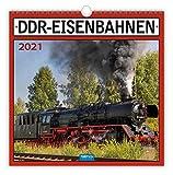 Technikkalender 'DDR-Eisenbahn' 2021: 30 x 30 cm, mit Bildern und Texten von Jan & Patrick Welkerling