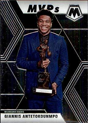 2019-20 Panini Mosaic #297 Giannis Antetokounmpo Milwaukee Bucks MVP Basketball Card