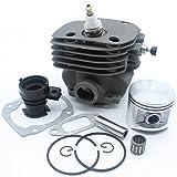 Kit de válvula de descompresión de pistón de admisión de 50 mm para Husqvarna 365 371 372 XP 362 Motores de motosierra