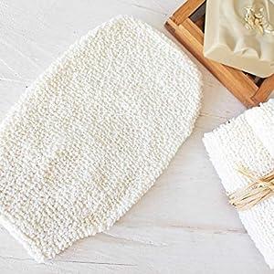 Bambus Waschhandschuh | Maße: ca. 11 x 23 cm, Peelinghandschuh, Bambus Waschlappen