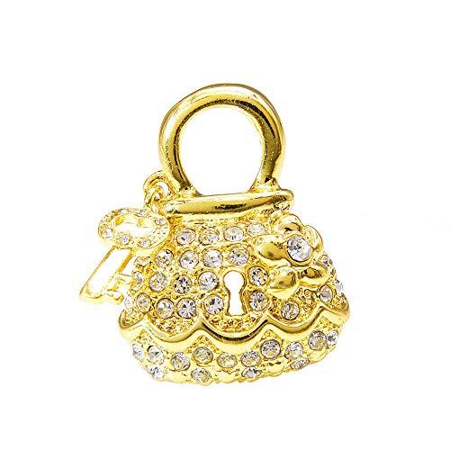 GLKHM Broche De Mariposa Broches De Cerradura Y Llave Accesorios De Broche De Moda Creativa para Mujer-1_3 * 3.7Cm