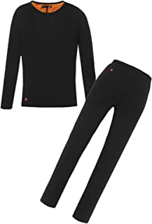 BJ&HH Winter Heated Underwear Battery Powered USB Heating Motorcycle Jacket T-Shirts & Pants Electric Thermal Ski Set