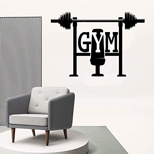 Vinilos Decorativos De Gimnasia Textiles Para El Hogar Gym Company Decoración Vinilos Decorativos De Pared Vinilos Decorativos De Pared 82X57Cm