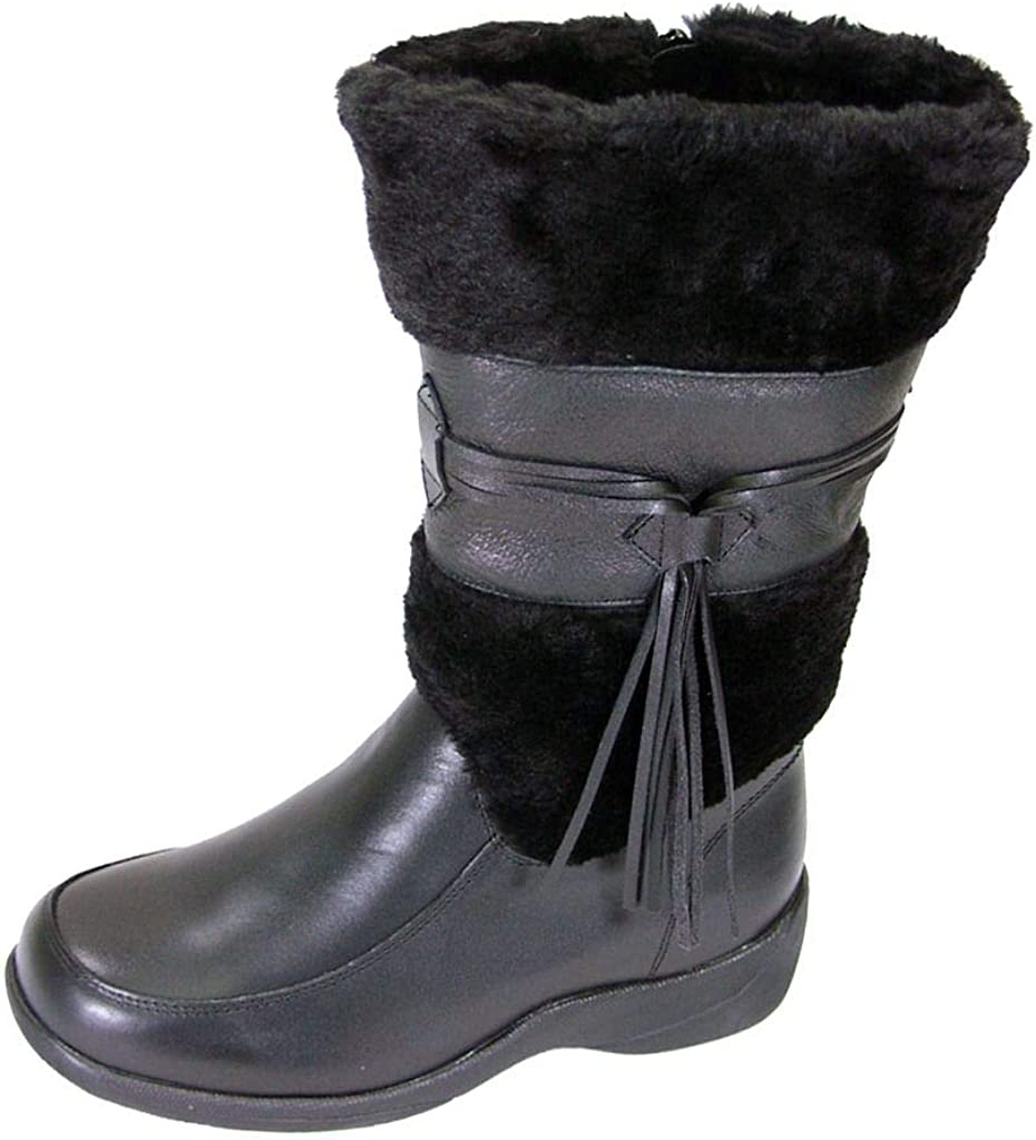 PEERAGE Bianca Women Wide Width Leather Max 52% OFF Fleece Dress Bo San Francisco Mall Collared