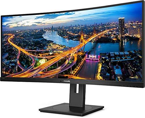 Philips 346B1C - 34 Zoll WQHD Curved USB-C Docking Monitor, höhenverstellbar (3440x1440, 100 Hz, HDMI, DisplayPort, USB-C, RJ45, USB Hub) schwarz