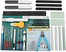 BXQINLENX Professional 39 PCS Gundam Model Tools Kit Modeler Basic Tools Craft Set Hobby Building Tools Kit for Gundam Car Model Building Repairing and Fixing(Q)