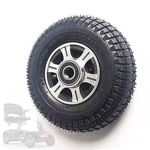 HAOJON Neumáticos de Scooter eléctrico, Rueda Completa de Aluminio de 9 Pulgadas 2.80/2.50-4 con neumáticos Antideslizantes Resistentes al Desgaste, adecuados para Accesorios Opcionales para scoo